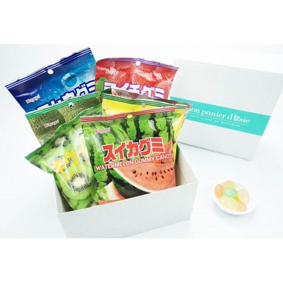 Assortiment de bonbons mous japonais 6 parfums - mon panier d'asie