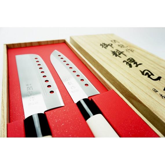 Coffret de 2 couteaux de chef japonais - mon panier d'asie