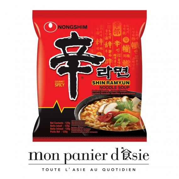 shin ramyun spicy 120g - mon panier d'asie