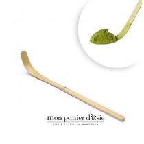 Chashaku spatule à thé matcha en bambou 18cm - mon panier d'asie