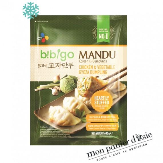 Gyoza coréen goût Poulet&Légumes BIBIGO 600g - mon panier d'asie