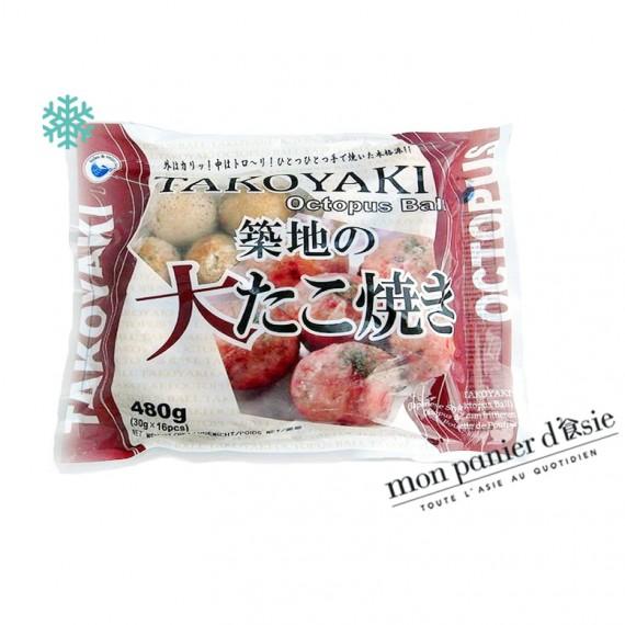 Takoyaki boulette 480g*16pcs - mon panier d'asie