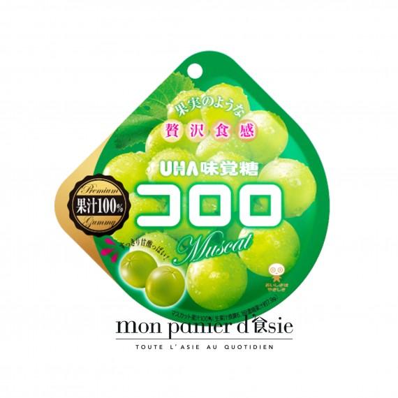 Kororo Bonbons Au Jus De Raisin Blanc UHA 48g - mon panier d'asie