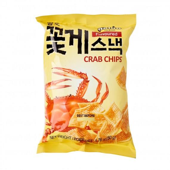 Chips goût de crabs PALDO 50g - mon panier d'asie