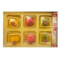 Coffret Gâteau De Lune Avec Coeur Fondant (Sakura&Matcha&Durian)