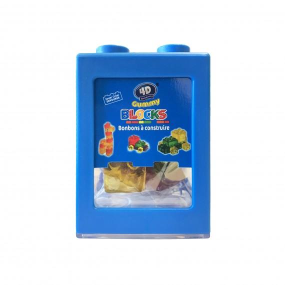 Boîte Bleue de gummy bonbons à construire 3D+Délicieux 80g