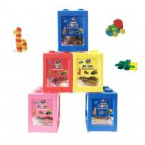 Boîte-tirelire de gummy bonbons à construire 3D+Délicieux BLEU 80g