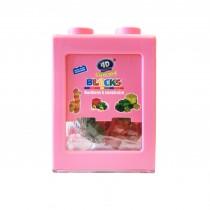 Boîte-tirelire de gummy bonbons à construire 3D+Délicieux ROSE 80g