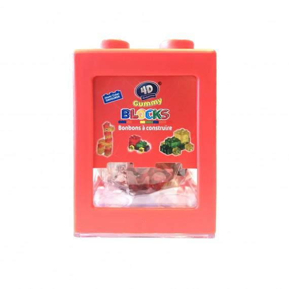 Boîte Rouge De Gummy Bonbons À Construire 3D+Délicieux 80g