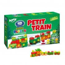Coffret Petit Train Gummy bonbons à construire 3D+Délicieux 450g