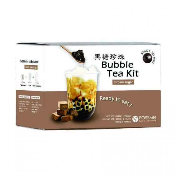 Kit bubble tea sucre roux 8 parts 816g