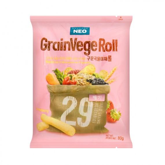 Snack Grain Vege Roll Goût Fraise 80g - mon panier d'asie