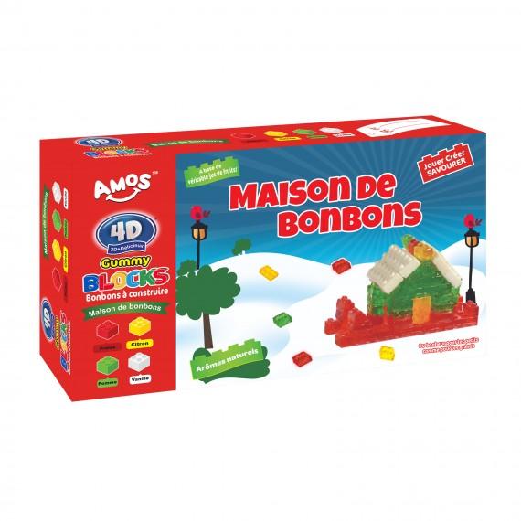 Coffret Traîneau de Noël Gummy bonbons à construire 3D+Délicieux 450g