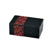 Bento 2 étages motif sakura rouge 900ml 52568-7