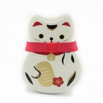 Boîte à bento motif chat blanc 520ml