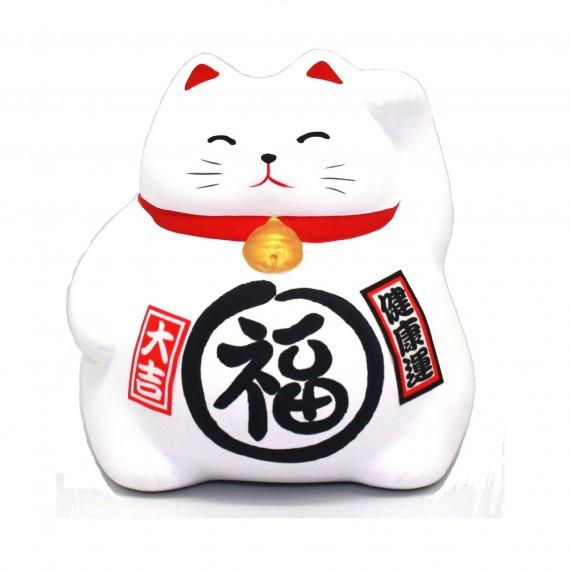 Porte-bonheur Chat blanc - mon panier d'asie