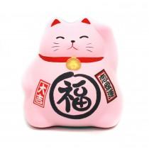 Porte-bonheur Chat rose - mon panier d'asie
