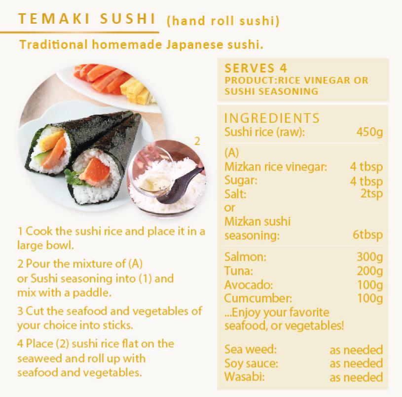 recette temaki sushi
