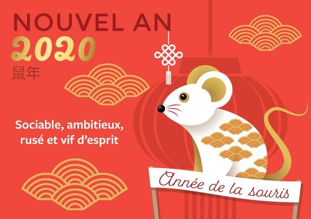 Bon nouvel an chinois 2020